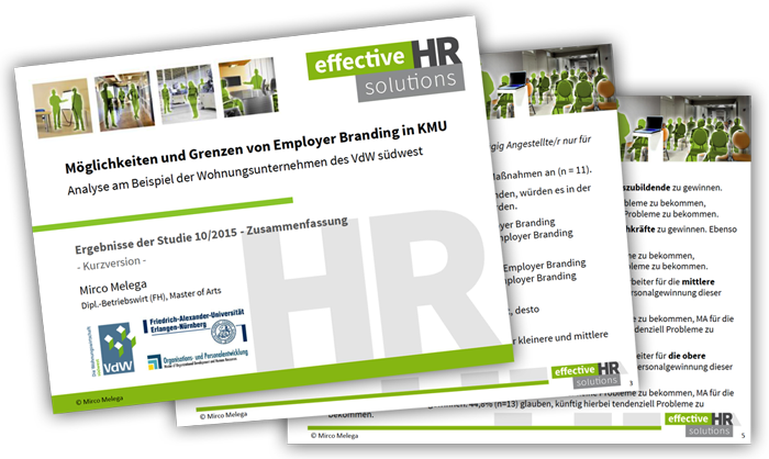 Download Studie Employer Branding 2015/2016 – Mirco Melega – effektive HR solutions