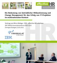 Success factors in multinational IT projects – Lecture by Mr Melega at IBM Tririga Conference 2015